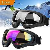 JTENG Motorrad Goggle Motocross skibrille Sportbrille Wind Staubschutz Fliegerbrille Snowboardbrille...