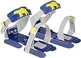 Nijdam® Junior Kinderschlitschuhe verstellbare Gleitschuhe Größe 24 - 35 Blau oder Rosa