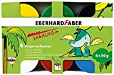Eberhard Faber 578605 Fingerfarbe Tabaluga, 6 Farbtöpfe à 50 ml