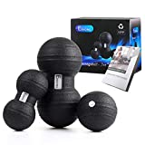 EKKONG Faszientool-Sets, 2 x DUOBALL (13cm&9cm Durchmesser), 1 x Massageball (11cm Durchmesser) für...