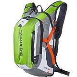 SHTH Wasserdicht Fahrrad Schulter Rucksack Wasser Reisetasche Ultralight für Radsport Outdoor Reiten Bergsteigen Hydration ,46*26*23cm,18L (Grün)