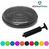 #DoYourFitness Ballsitzkissen inkl. Pumpe | ca. 33cm Durchmesser mit Noppenoberfläche - ideal für...