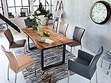 SAM Stilvoller Esszimmertisch Quarto 180 x 90 cm, nussbaumfarbig, Akazienholz-Tisch mit schwarz...