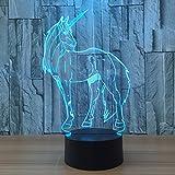 Einhorn 7 Farbe ändern Nachtlicht Sammler Charizard 3d Led Tisch Schreibtisch Lampe Cartoon Figur Kinder Nachttischlampe