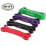 INTEY Fitnessbänder Set Premium Resistance Band aus Naturlatex in 4 verschiedenen Stärken...