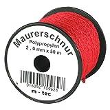 LOT-MAURERSCHNUR 50 m x Ø 2.0 mm ROT