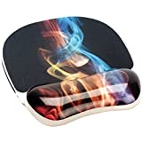 Fellowes Foto Gel Regenbogen Rauch-Motiv Handgelenkauflage mit Mauspad