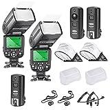 Neewer® Profi i-TTL-Kamera Slave Flash Blitz Blitzgerät Set für NIKON D7100 D7000 D5300 D5200...