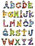 5 Sevi Holzbuchstaben Clown für Wunschname inkl Geschenkverpackung Türbuchstaben Kinderbuchstaben...