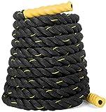 SportPlus Battle Rope • ca. 3,8cm Durchmesser • Seillänge 9M • Hochwertiges Schlagseil für...