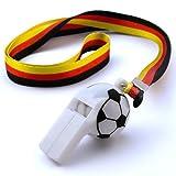 Relaxdays Trillerpfeife Fußball mit Halsband Deutschland