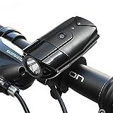 LED Fahrradlicht USB Wiederaufladbare Fahrradvorderlicht Fahradbeleuchtung Fahrradlampen, 300 Lumen...