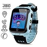 JBC GPS-Telefon Uhr OHNE Abhörfunktion, für Kinder, SOS Notruf+Telefonfunktion, Live GPS+LBS...