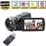 Videokamera Camcorder mit IR-Nachtsicht, Weton 1080P Full HD Camcorder Digital Videokamera 24,0...