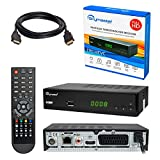 HB DIGITAL DVB-T/T2 SET: Skymaster T90 HEVC DVB-T/T2 Receiver + HDMI Kabel mit Ethernet Funktion und...