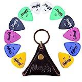 Mugig Gitarre Plektren 12 Stück bunte Picks von 6 verschiedenen Stärken und Farben in einer...