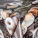 Wachstuch Wachstischdecke Tischdecke abwaschbar Kaffee Süßigkeiten 100 x 140cm