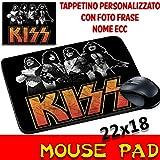 Maus Pad Kiss Hard Rock Personalisierte Mauspad mit Foto, Logo etc