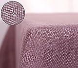Deconovo Tischdecke Wasserabweisend Tischwäsche Lotuseffekt Tischtuch Leinenoptik 130x160 cm...