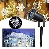 Schneeflocke Projektor LED Lichteffekt – VIDEN Weihnachtsbeleuchtung LED Projektor Lampe, Außen /...
