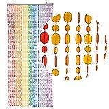 HAB & GUT (DV0222) Türvorhang Form: OVAL, Farbe: MEHRFARBIG, Material: Kunststoff, Größe: 90 x...