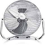 BRANDSON Retro Windmaschine 40 cm | 100W | Ventilator in Chrom (Retro-Design) | Standventilator |...