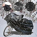 Fahrradabdeckung Wasserdicht,Nakeey Fahrradgarage Fahrrad Schutzhülle 210x80x110cm- Fahrradschutzhülle Schwarz