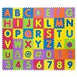 Puzzlematte für Babys & Kinder, 106 Teile, zertifiziert & schadstofffrei, Lernteppich aus...