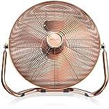 Brandson - Retro Windmaschine/Ventilator im Kupfer-Design (Retro-Stil) | Standventilator 50cm |...