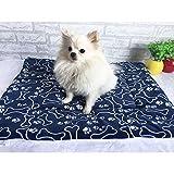 LissomPlume waschbare Sommerhaustiermatte Haustierdecke Hundedecke Katzendecke Tierdecke Hundebett - blau Stern 42*55