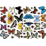 Fensterbilder Von Articlings: 25 Realistische Schmetterlinge Und 17 Marienkäfer – Statisch...