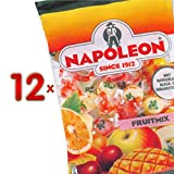 Napoleon Fruitmix Sachet 12 x 150g Packung (fruchtiges Bonbon mit Brausefüllung)