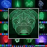 3D Lampe 3D Leuchte 3D LED Stimmungslicht. 7 verschiedene Farben wählbar - Auswahl aus 81...