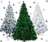 Künstlicher Weihnachtsbaum Tannenbaum 30,60,90,120, 150, 180,210 240cm Christbaum Baum GRÜN WEISS...
