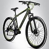 Bergsteiger Canberra 29 Zoll Mountainbike, geeignet ab 160 cm, Scheibenbremse, Shimano 21...