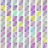 Kyerivs Nagel Vinyl Schablonen Aufkleber Set,Nette Einfache Nagel Schablonen Blätter, 24 Blätter 72 Entwürfe, 144 Stücke