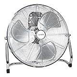 STIER Ventilator, 145W, Bodenventilator in Metall-Optik, Durchmesser 50 cm, 3 Ventilationsstufen,...