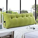 Vercart Wedge Pillow Bed Wedge Pillow Sofa Rückenlehne Kopfkissen,Keilkissen, Rückenkissen, Fernsehkissen, Ergokissen Weich und Bequem aus Softer Microfaser,Waschbar,Grün
