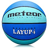 meteor LAYUP: Kinder & Jugend Basketball - Größe #4, Blau, ideal auf die Kinderhände von 5- bis...