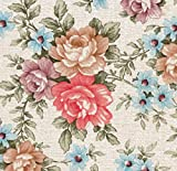 AS4HOME Klebefolie - Möbelfolie Blumen Romantic Rosen - 45 cm x 200 cm selbstklebende Folie -...