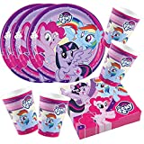 52-teiliges Party-Set My little Pony 2017 - Teller Becher Servietten für 16 Kinder