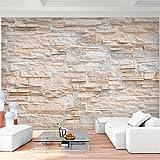 Fototapete Steinwand 3D Effekt 352 x 250 cm Vlies Wand Tapete Wohnzimmer Schlafzimmer Büro Flur...