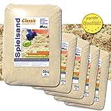 125 kg Spielsand Quarzsand TÜV geprüft TOP Qualität 0 - 2 mm Sandkasten