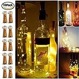 【10 Stück】SiFar 20 LEDs 2M Flaschen-Licht Warmweiß, LED Lichterketten Stimmungslichter...