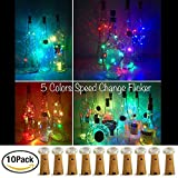 【10 Stück】SiFar 20 LEDs 2M Flaschen-Licht Multicolor, LED Lichterketten Stimmungslichter...