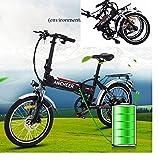 L'AMORE E-Bike Faltrad Klapprad Elektrofahrrad Vorderradmotor 36V/250W, 20 Zoll, 7 Gang,...