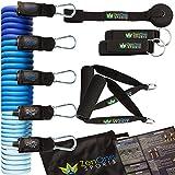 Fitnessband Resistance Bands Set ZenBands mit Gratis E-Book I 5 Fitnessbänder Tubes Bänder,...