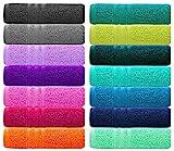 Lashuma® Handtuch Set - Frotteeserie London - in 14 Farben und 6 Größen, Farbe: Marine Blau, 4er Set Gästetuch 30x50 cm
