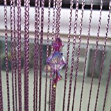 Homyl Kristall Perlenvorhang Türvorhang Deko vorhang Perlen Raumteiler Vorhang 1M