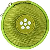 Mini-Etui - Blume, nur 7cmØ, z.B. Hülle für iPod Shuffle oder Case für Ohrhörer, bzw. Kopfhörer (iPhone, iPod, iPad, S3 etc.) oder für SD-Karte, USB-Stick